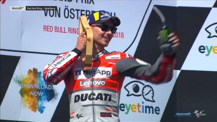 Jorge Lorenzo vence na Áustria mas não rouba liderança de Márquez