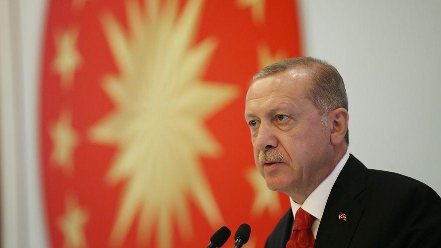 Der türkische Präsident Recep Tayyip Erdoğan bei einer Rede in Trabzon