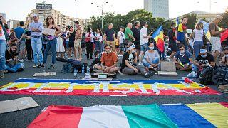 Három napon át tüntettek a kormány és a korrupció ellen Romániában