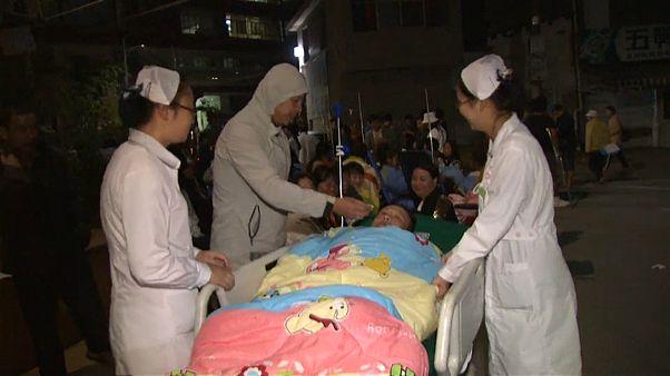 شاهد: هزة أرضية في الصين وإصابة 5 أشخاص