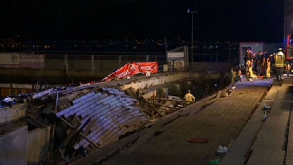 Watch: Panic as 300 injured in Vigo platform collapse