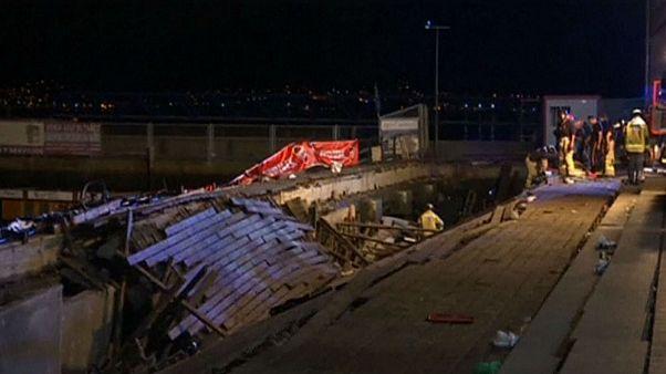 Watch: Panic as 300 injured in Vigo platform collapse