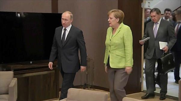 Treffen Merkel-Putin am 18. August in Meseberg bei Berlin