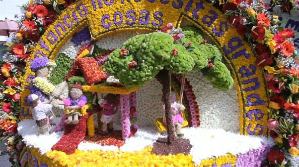 Los silleteros cierran la Feria de las Flores de Medellín