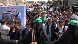 """اعتصام المئات بصنعاء للتنديد بالهجمة الجوية لـ """"التحالف"""" على صعدة"""