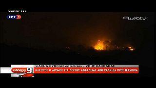 L'isola di Eubea in fiamme