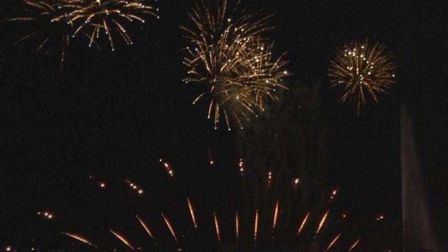Watch: Spectacular firework show lights up Geneva sky