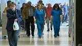 Enfermeiras num hospital - Greve dos enfermeiros