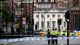a car crashed outside the Houses of Parliament in Westminster