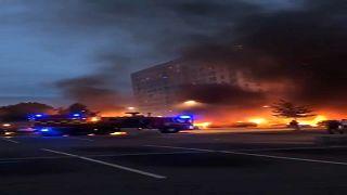 Autókat gyújtottak fel Svédországban