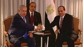 دیدار محرمانۀ بنیامین نتانیاهو با عبدالفتاح سیسی برای حل و فصل بحران غزه