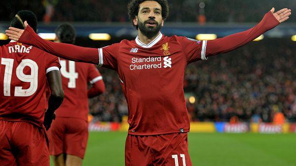 Mohamed Szalah, a Liverpool játékosa 2018. április 4-én