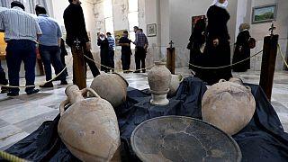 Una sala del Museo Archeologico di Idlib, in Siria