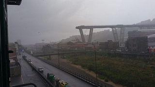 Bridge collapse in Genoa