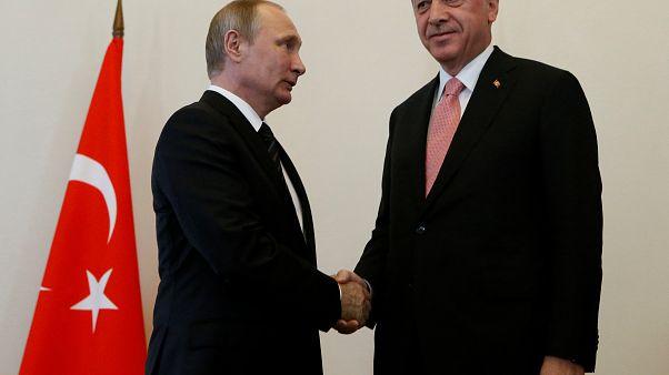 Presidents Putin and Erdogan meet in St Petersburg, Russia, August 9, 2016.