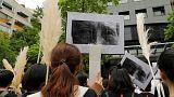 Tayland comfort women protesto