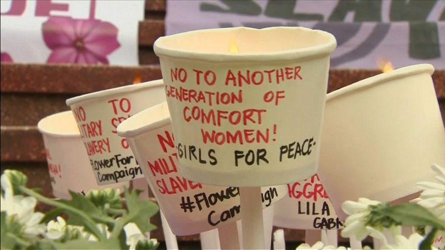 تجمع در مقابل دفتر نمایندگی ژاپن به یاد «زنان آسایشگر» تایوان