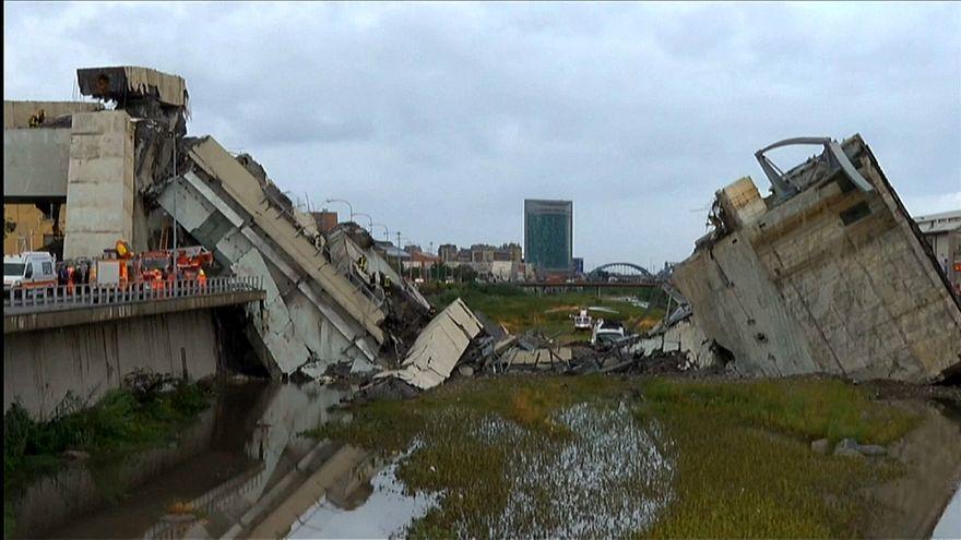 Viaduto colapsa na cidade de Génova