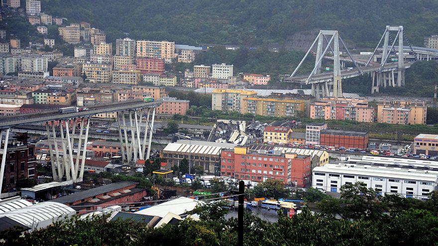 Puente en Italia: Fotos del colapso de la autopista en Génova