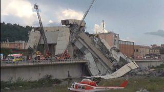 Entsetzliche Tragödie in Genua  -  Dutzende Tote bei Brückeneinsturz
