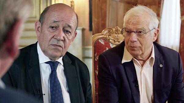 Le nuove sfide europee: Jean-Yves Le Drian e Josep Borrel a confronto su euronews