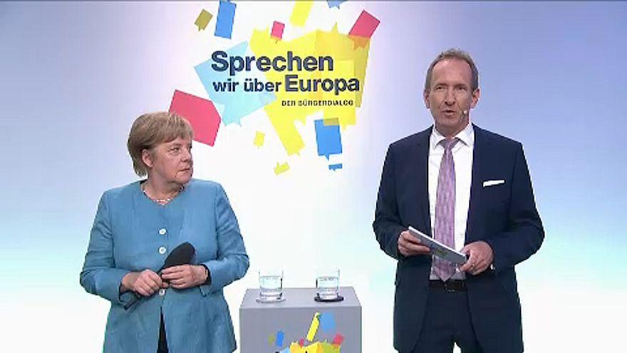 Civil párbeszéd Európáról Angela Merkellel