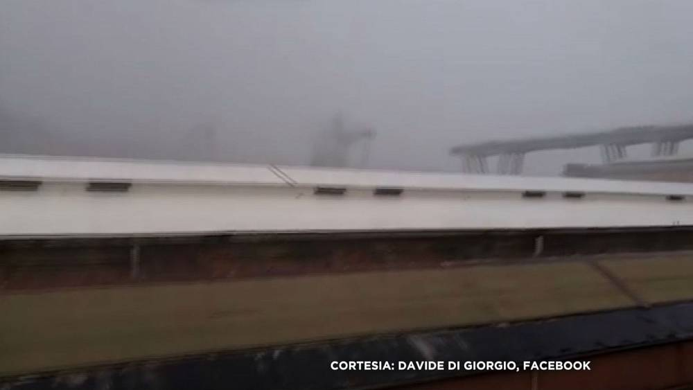 Moment of Italian bridge collapse caught on camera