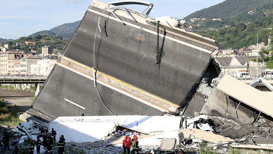 Trauer nach Einsturz in Genua:  4 junge Franzosen und 3 Kinder unter den Toten