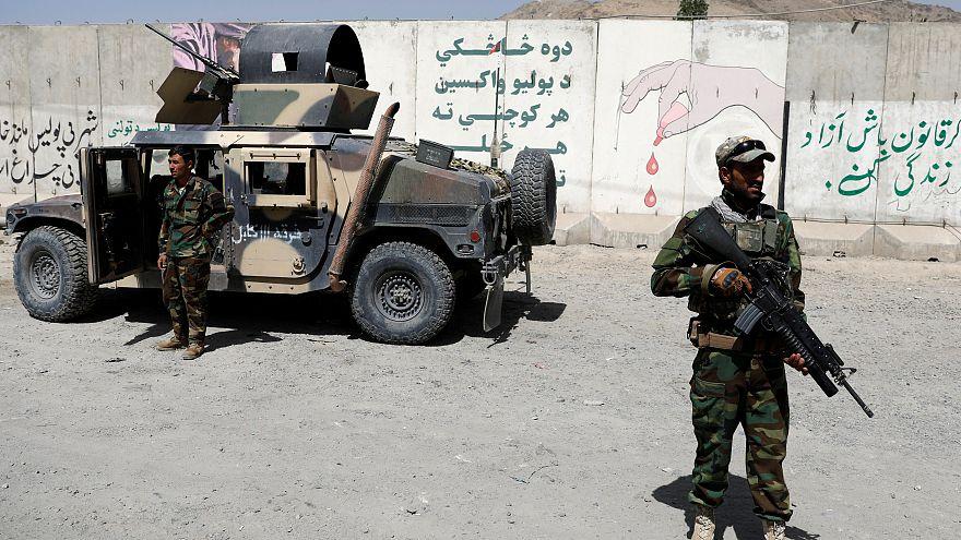 Afghanische Truppen in Kabul