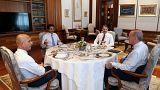 Cumhurbaşkanı Erdoğan ve Katar Emiri El Sani, Beştepe'de bir araya geldi.