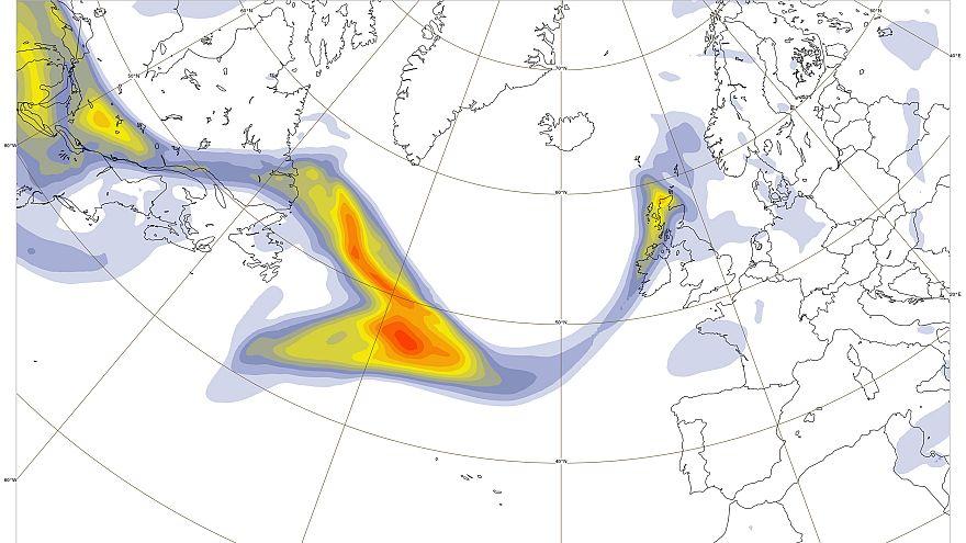 Aerosol de quema de biomasa cruzando el Atlántico