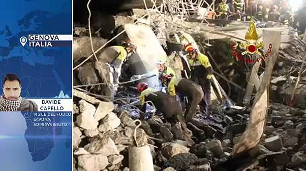 Genova: egy szabadnapos tűzoltó is a túlélők között