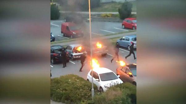 آتش زدن ماشینها در گوتنبرگ سوئد