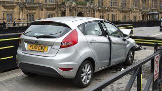Silberner Ford Fiesta, mit dem der mutmaßliche Anschlag verübt wurde