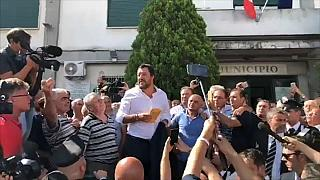 """Mafia, Salvini a San Luca: """"Non vi abbandono"""""""