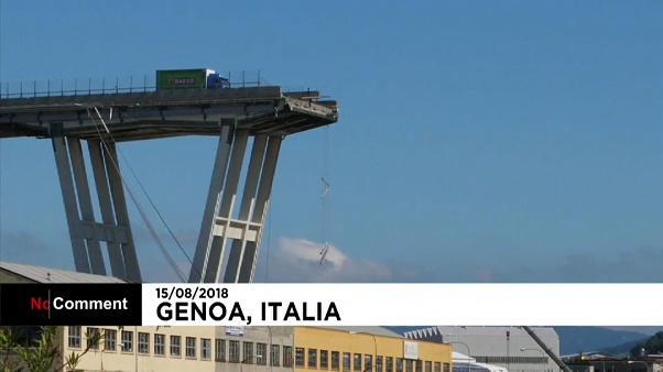 Génova, el día después del derrumbe del viaducto