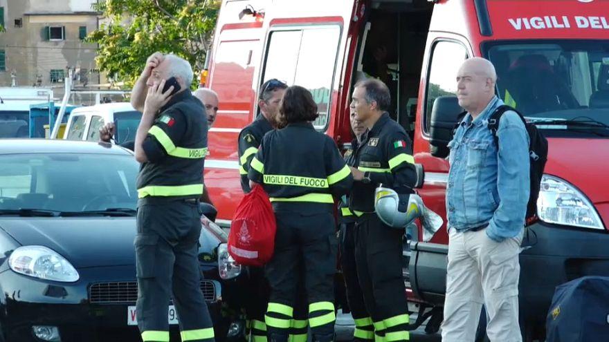 Encuentran un superviviente entre los escombros del puente Génova