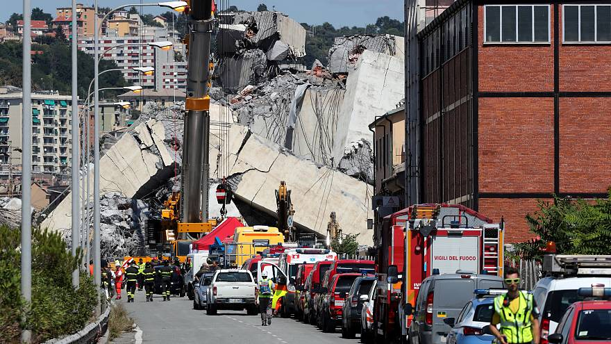 Who are the victims of the Genoa bridge collapse?