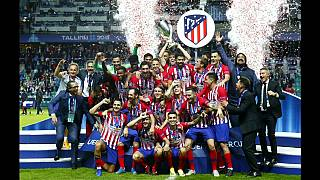 أتليتيكو يحصد كأس السوبر الأوروبية وليس لغريمه ريال مدريد إلا الدموع