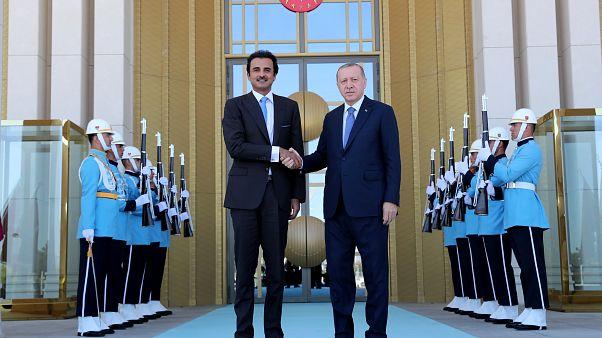 Recep Tayyip Erdogan und der Emir von Katar in Ankara