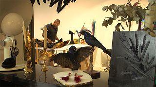 ملاقات با خالق اشیاء لوکس و هنری با پر پرندگان در پاریس