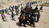 a burial ceremony, in Kabul, Afghanistan