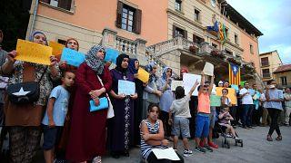 Familiares de los autores de los ataques en Cataluña en Ripoll en 2017.