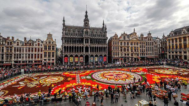 Blumenteppich in Brüssel