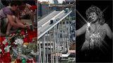 Live: Catalonia attacks anniversary; bridge collapse latest; and Aretha Franklin tributes
