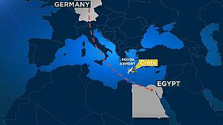 Aterrizaje de emergencia de un avión alemán en Creta tras una amenaza de bomba