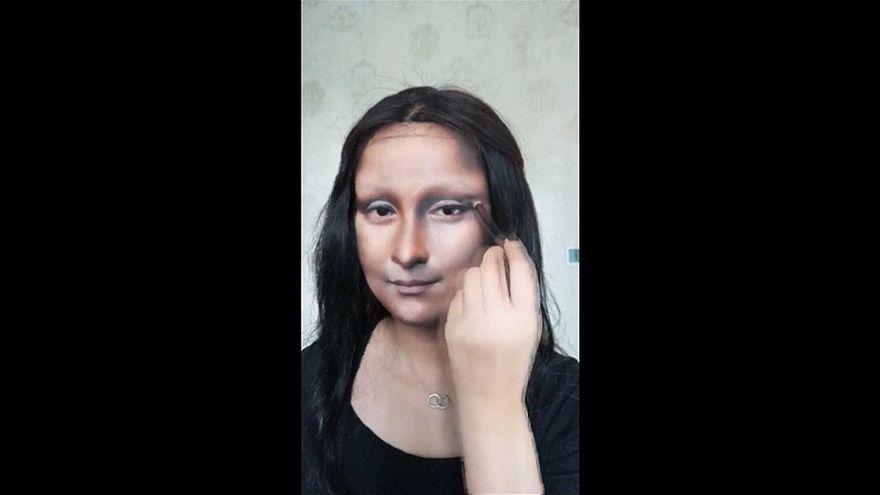 Κινέζα ζωντανεύει έργα τέχνης στο πρόσωπό της!