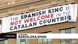 Watch: Protesters object to Spanish King's Barcelona visit