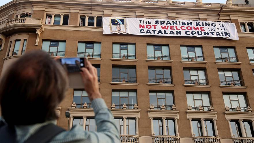 Protest gegen König Felipe