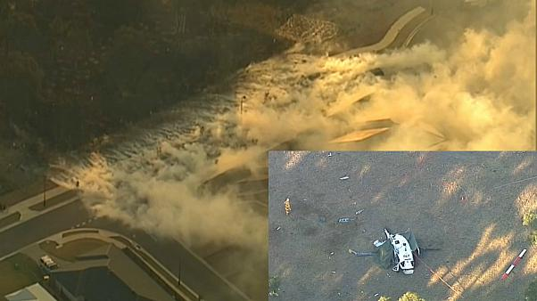 مقتل ربان في تحطم مروحية أثناء إخماد حرائق غابات في أستراليا